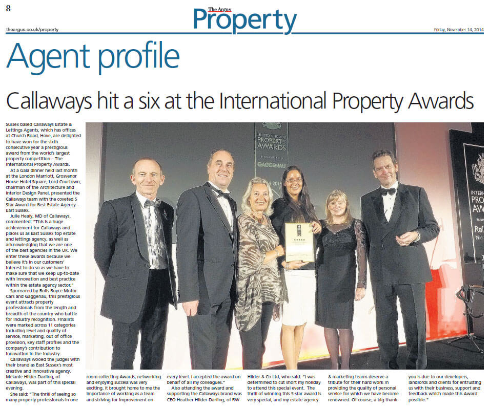 UK Property Awards 2014 - 2015